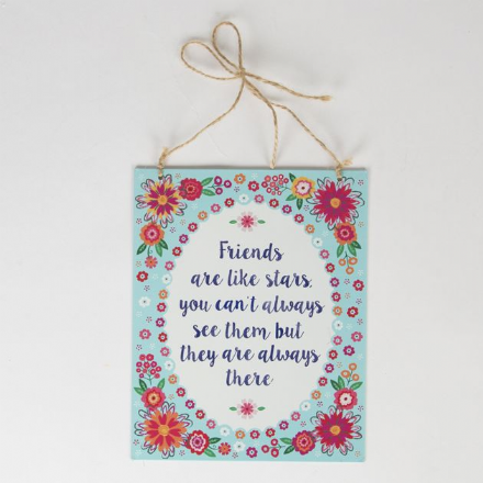 50% OFF Friends are Like Stars Flower Pop Tin Plaque